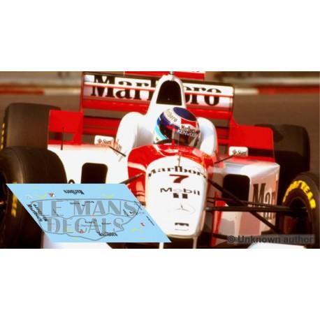 McLaren MP4/11 Scaleauto Slot - Monaco GP 1996 nº7