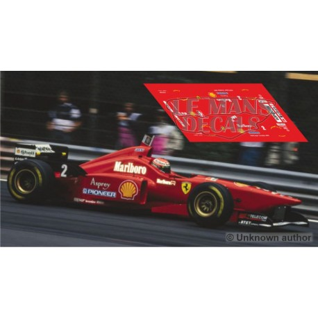 Ferrari F310 Scaleauto Slot - GP Bélgica 1996 nº2